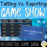 Tattling Vs Reporting Digital Game Show