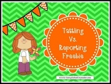 Tattling Vs. Reporting- Savvy School Counselor