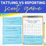 Tattling Vs. Reporting Scoot Game