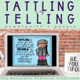 "Tattling Vs. Telling and ""I Feel"" Slide Show"