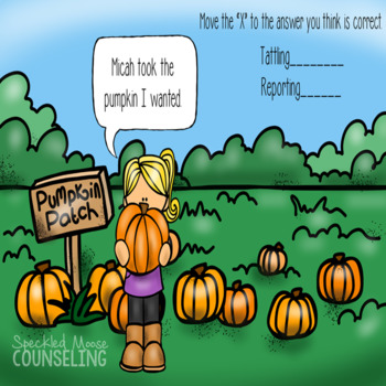 Tattling and Reporting Digital Lesson for Elementary School Counseling