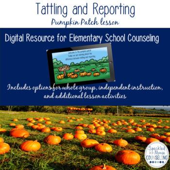 Tattling and Reporting Digital Lesson