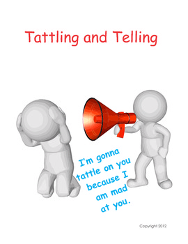 Tattling and Telling There Is A Differance - Changing Behavior