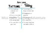 Tattling and Telling poster