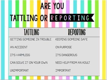 Tattling or Reporting