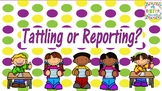 Tattling or Reporting: PowerPoint Game EDITABLE