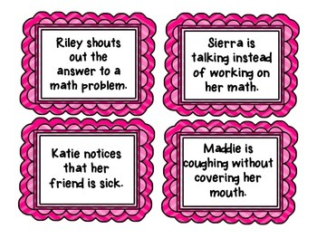 Tattling or Reporting Task Cards