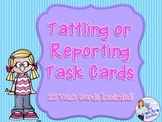 Tattle or Reporting Task Card Game