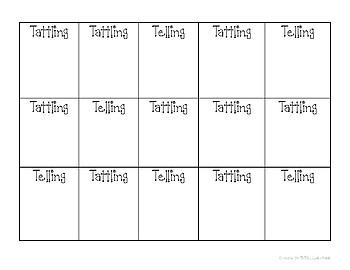 Tattling or Telling?