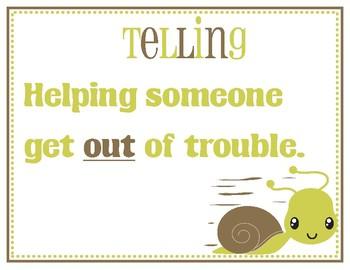Tattling or Telling