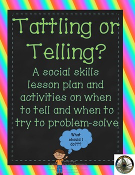 Tattling or Telling? Social skills lesson teaching students when to ask for help