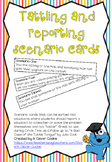 Tattling v reporting scenario cards for circle time
