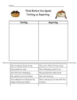 Tattling versus Reporting