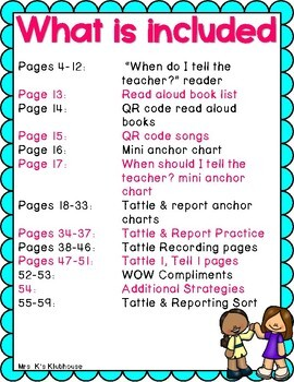 Tattling Vs Reporting Activities And Resources To Help With Tattling