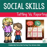 Guidance Lesson: Tattling vs. Reporting File Folder Sorting Activity