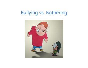 Tattling vs. Telling & Bullying vs. Bothering lessons