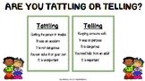 Tattling vs Telling Chart