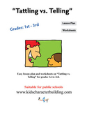 Tattling vs Telling Grades 1-2-3