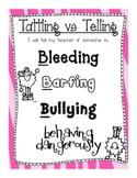 Tattling vs Telling Poster- The 4 Bs