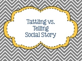 Tattling vs. Telling Social Story