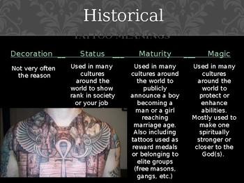 Tattoo Design Art Lesson Powerpoint