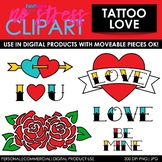 Tattoo Love Clip Art (Digital Use Ok!)