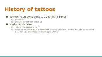 Tattoo presentation