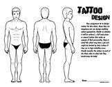 Tattoo work sheet - Male and Female