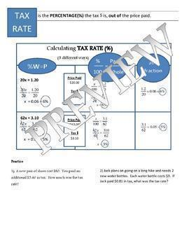 Tax and Total Cost