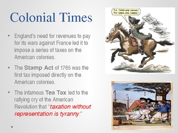 Tax Day - No taxation without representation - U.S. History PPT