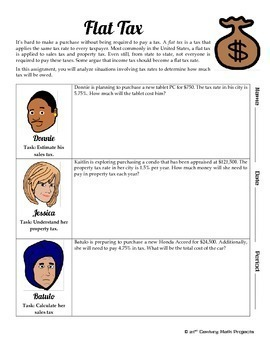 Tax Rate -- Financial Literacy Percent - 21st Century Math Project