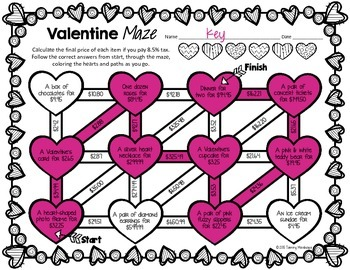 Tax Rate & Sale Price - A Valentine's Maze
