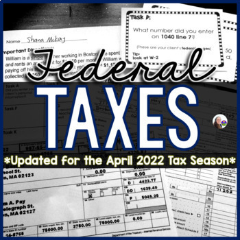 Tax Task Cards {Federal Income Tax activity}