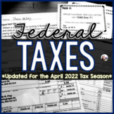 Tax Task Cards - Federal Income Tax 1040 activity