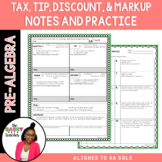 Tax Tip Discount Guided Notes