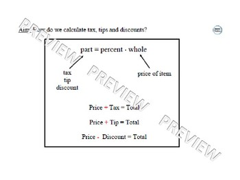 Tax, Tip & Discount Lesson 1 of 2