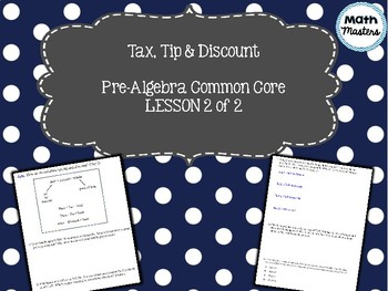 Tax, Tip & Discount Lesson 2 of 2