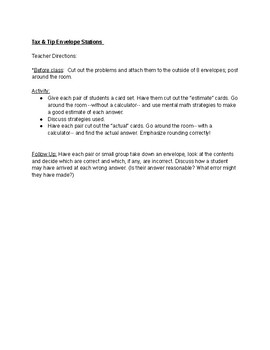 Tax & Tip Envelope Stations