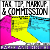 Tax, Tip, Markup, and Commission and Discovery Sheets | Digital and Print