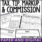 Tax, Tip, Markups, and Commission Notes and Such | Digital and Print