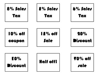 Tax Tip and Discounts