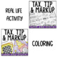 Tax, Tip and Markup Activity Pack
