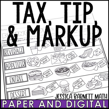 Tax, Tip, and Markup Restaurant Activity