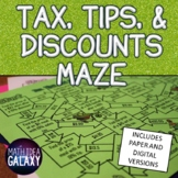 Tax, Tips, and Discount Maze Activity