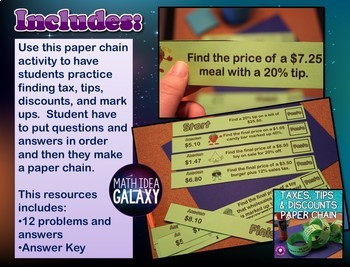 Tax, Tips, and Discounts Game Pack