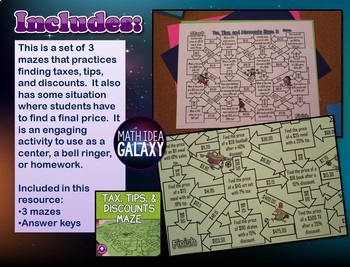 Tax, Tips, and Discounts Game Bundle