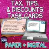 Tax, Tips, and Discounts Task Cards