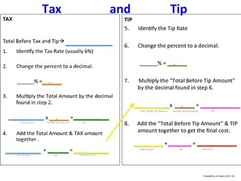 Sales Tax and Tip