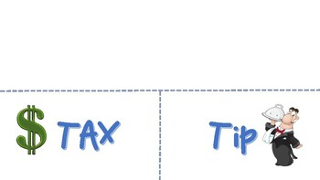 Tax and Tip Foldable