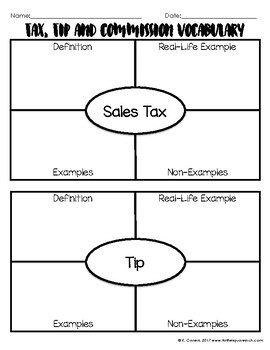 Tax and Tip Notes